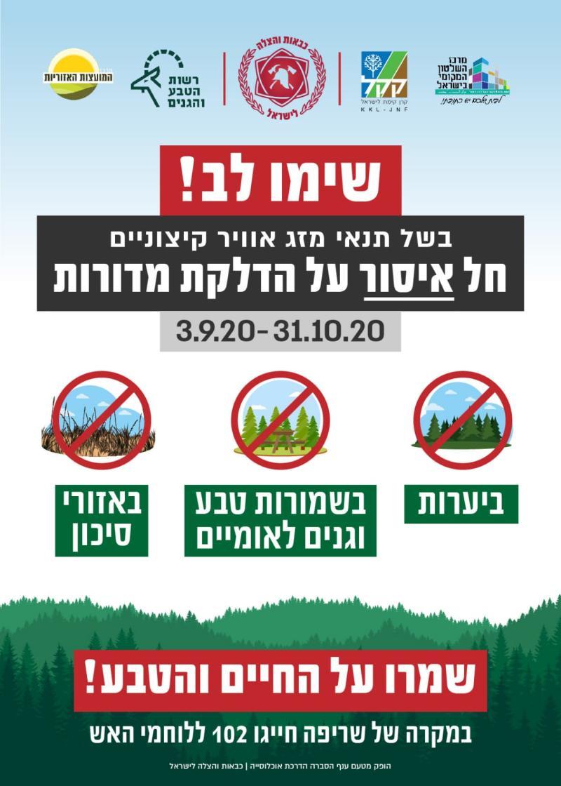 צו איסור על הדלקת מדורות